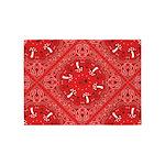 red bandana 5'x7'Area Rug