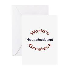 W Greatest Househusband Greeting Card
