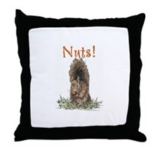 Nuts! Throw Pillow
