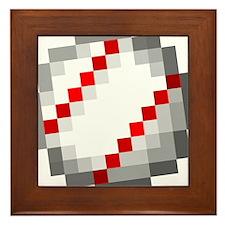 Minecraft Inspired Baseball Framed Tile