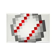 Minecraft Inspired Baseball Rectangle Magnet