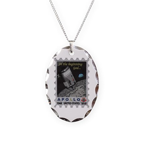Apollo 11 40th Anniversary Necklace Oval Charm
