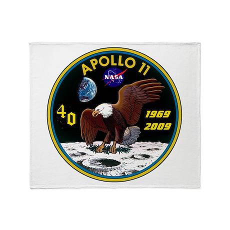 Apollo 11 40th Anniversary Throw Blanket
