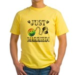 Just Married Yellow T-Shirt