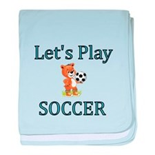 Lets Play Soccer baby blanket