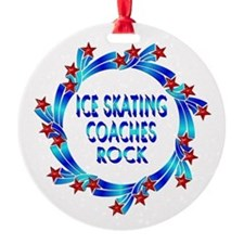Ice Skating Coaches Rock Ornament