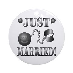 Just Married Ornament (Round)