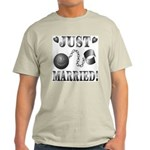 Just Married Ash Grey T-Shirt