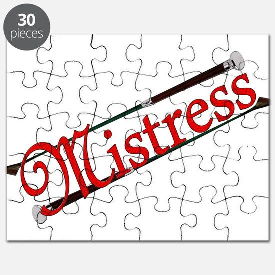 """Mistress"" Title with Riding Crops Puzzle"
