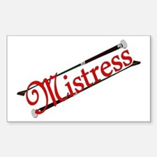 """""""Mistress"""" Title with Riding Crops Decal"""