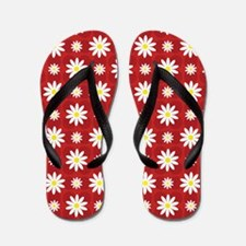 Daisies on Red Flip Flops