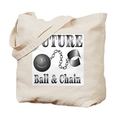 Reversible FUTURE/JUST MARRIED Ball&Chain Tote Bag