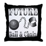 FUTURE Ball and Chain Throw Pillow