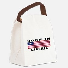 Born In Liberia Canvas Lunch Bag