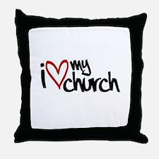 I love my church Throw Pillow