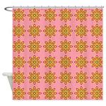 Flower Burst Pattern Shower Curtain