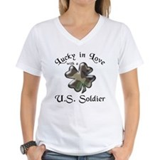 Lucky in Love U.S. Army Soldier Ash Grey T-Shirt