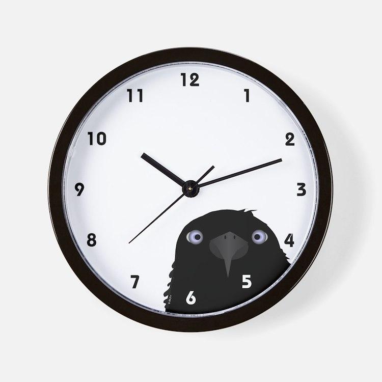 Eating Crow Wall Clock