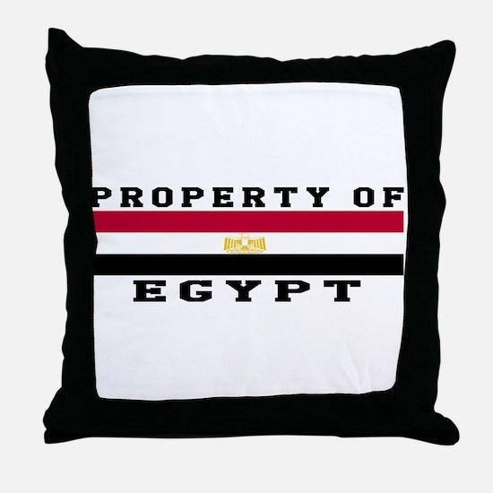 Property Of Egypt Throw Pillow