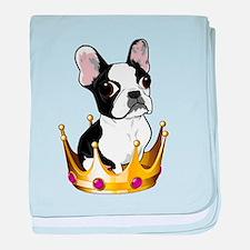 Boston in crown baby blanket