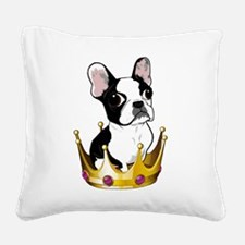 Boston in crown Square Canvas Pillow