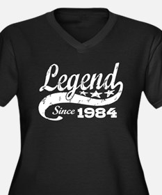 Legend Since 1984 Women's Plus Size V-Neck Dark T-