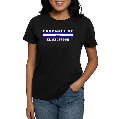 Property Of El Salvador Women's Dark T-Shirt