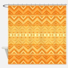 Apricot, Aztec Shower Curtain