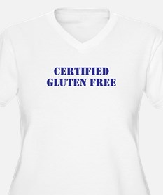 CERTIFIED GLUTEN FREE Plus Size V-Neck T-Shirt