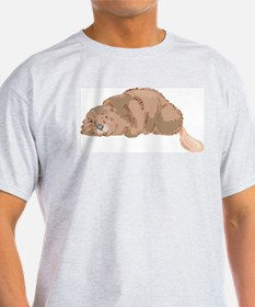 Cute Beaver Ash Grey T-Shirt