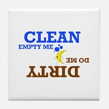 Cute Do washer clean dirty funny Tile Coaster
