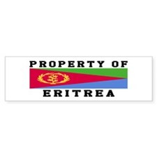 Property Of Eritrea Bumper Sticker