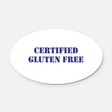 CERTIFIED GLUTEN FREE Oval Car Magnet