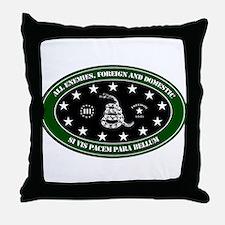 All Enemies Throw Pillow