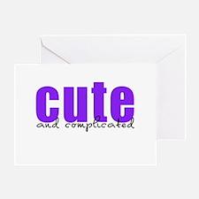 Purple Cute Complicated Greeting Card