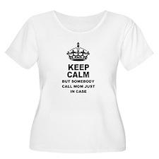 Keep Calm - Call Mom Plus Size T-Shirt