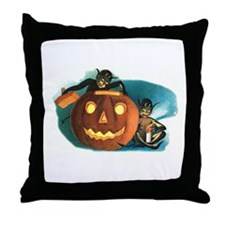Halloween Goblins Throw Pillow