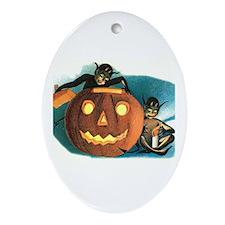 Halloween Goblins Oval Ornament