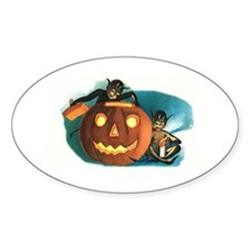 Halloween Goblins Oval Decal