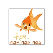 Here Fishy Sticker
