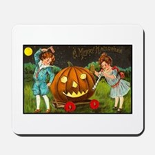 Victorian Halloween Children Mousepad