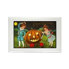 Victorian Halloween Children Rectangle Magnet