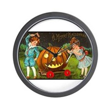 Victorian Halloween Children Wall Clock