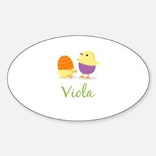 Easter Chick Viola Decal