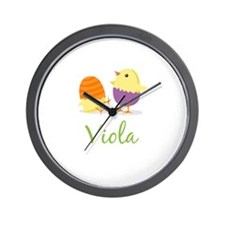 Easter Chick Viola Wall Clock