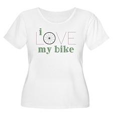 I Love My Bike Plus Size T-Shirt
