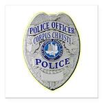 Corpus Christi Police Square Car Magnet 3