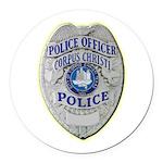 Corpus Christi Police Round Car Magnet