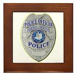 Corpus Christi Police Framed Tile