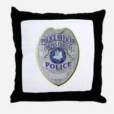 Corpus Christi Police Throw Pillow